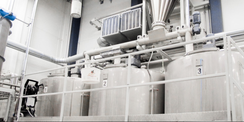 Three 5 m3 sour dough tanks with automatic flour and water intake