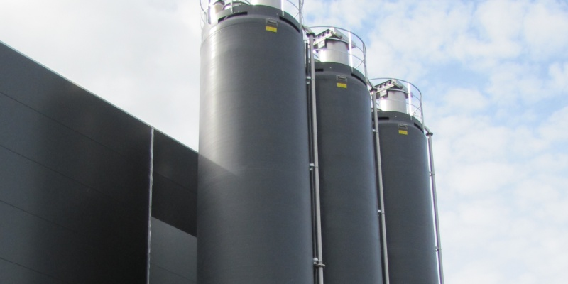 Powder Technic glass fiber silos for wheat and rye flour