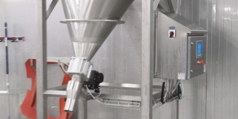 Scale hopper for dosing of rice in food factory