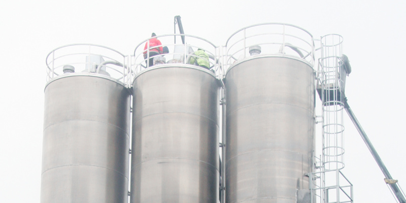 stainless steel silos for wheat powder
