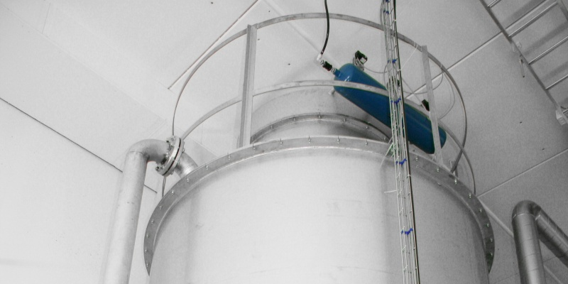 Stainless steel silo in In-Store bakery