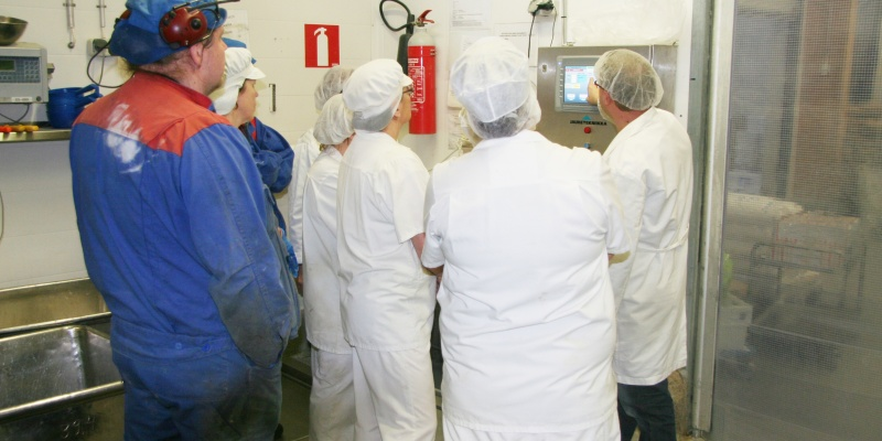 Training users in food factory specialized in meat pie production