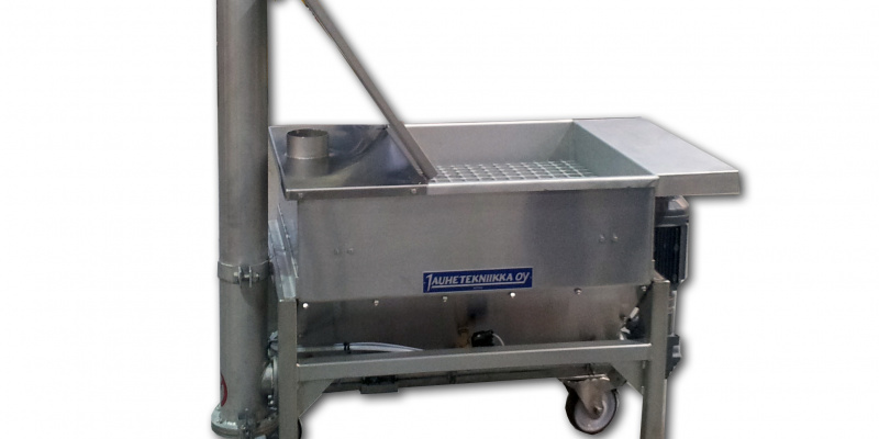 Dosing unit for filling of bread crumb dispenser. Atria Oyj.